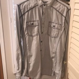 BKE Mens Fitted L Shirt